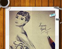 Audrey Hepburn Sketch