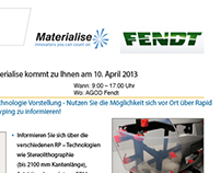 Fendt - Materialise NV invitation