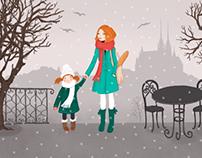 """Brno"" illustration for Gurmet magazine"