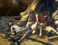 Photomanipulation and Digital Painting: Raft of Medusa