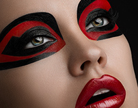 Red and black makeup