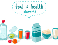 Food & Health Illustration Elements