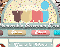 Yumi Ice Cream Parlour/Restaurant Website Mockup