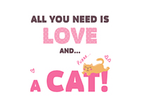 All you need is love and... a cat!