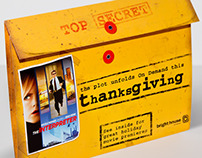 "Thanksgiving ""Top Secret Envelope"" Mailer & Bill Insert"