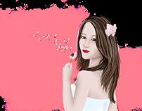 Cabeçario para o Blog Menina de palavra
