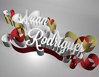 Tipografia 3D - Nuan Rodrigues