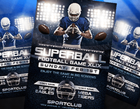 Superbowl or College Football Flyer PSD Template