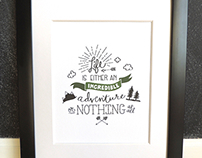 Incredible Adventure - Hand Lettered Art Print