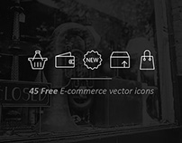 Outline E-Commerce Icons Freebie