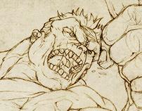 Fantastic Four portfolio drawing