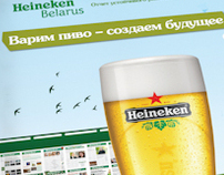 Graphic design. Heineken Annual Report