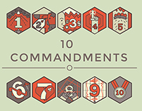 10 commandments series art