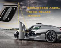 Koenigsegg hood release handle