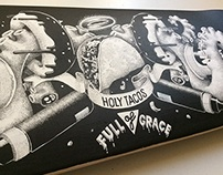 Holy tacos (skateboard custom)