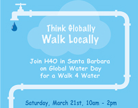 3 X 5 feet poster for Global Water Day