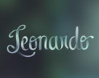 Leonardo Lettering