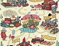 """BBQ land"" for American Airlines Magazine"