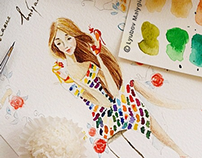 my summer watercolors
