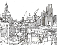 Pen and Ink Drawings of London
