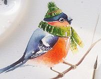 My winter watercolors