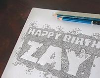 Happy 22nd Birthday Zayn Doodle
