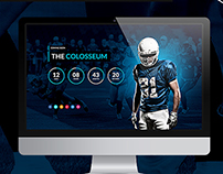 The Colosseum - Sports Magazine PSD Template