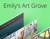 Emily's Art Grove UI Design
