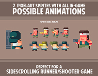 20 X 20 TWO SOLDIERS SPRITESHEET