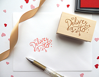 Deliver to - Hand Lettered Calligraphy Stamp