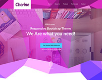 Chorine - free PSD Onepage Web PSD