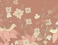 Rosa vieja/ Floral print