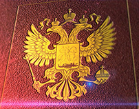 "Sketch for TV. ""Constitution Of Russia"" book."