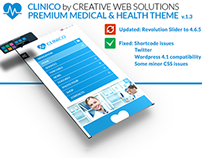 Clinico Wordpress v.1.3 update