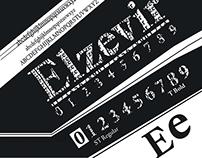 """Affiche Typographique : Caractères """"Elzevir"""""""