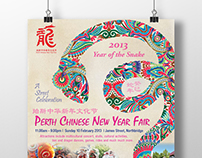 Perth Chinese New Year Fair Poster 2012 and 2013