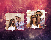 Valentine Photo Frame Template $4