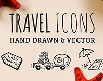 65 Hand Crafted Travel Icons