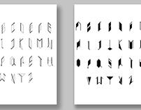 Typeface design --skeleton