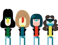 Joey, Tommy, Dee Dee & Johnny