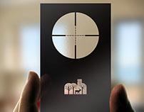 Transparent Business Card Design: Major Hunting
