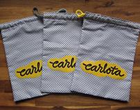 Carlota custom type logo
