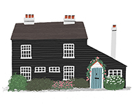 Illustrated house portraits