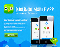 Duolingo Mobile App Advertisement