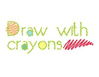 Crayon drawing brush in Adobe Illustrator.
