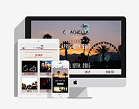 Responsive Coachella Event Project