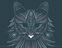 Norwegian Forest - Cat Illustration