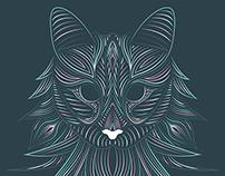 Norwegian Forest - Cat Illustration