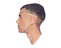 Stromae - Racine Carrée geometric vector portrait