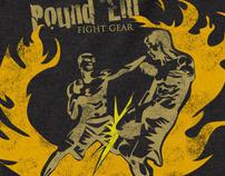 Pound'em Fight Gear Leg kick Thermal Shirt Design